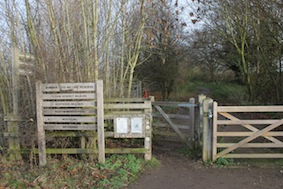 Come on...our route lies through that gate