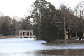 The view back across Octagon Lake