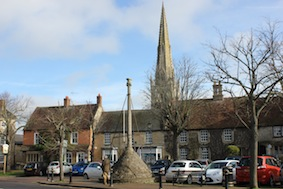 Higham Ferrers' beautiful market square
