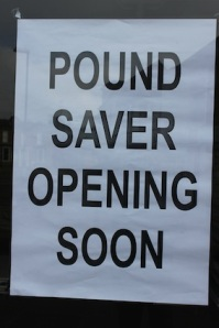 A sign of today's High Street...