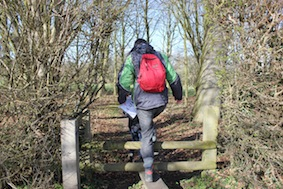 Over the stile onto the path