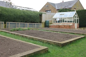 Some fabulous raised beds along here...