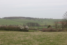 That's Farthingstone in the distance