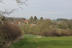 The view back towards Farthingstone