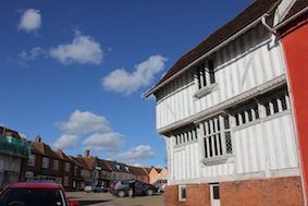 Lavenham looks even better under a beautiful spring day sky
