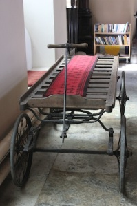 An old coffin cart