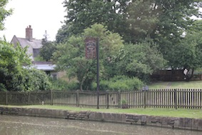 There's the Barley Mow over the canal