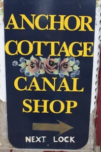 Nice signpost to the shop we passed earlier