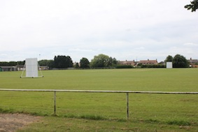 Local playing fields on the right