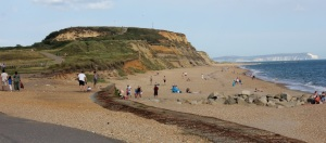The view towards the Head where our path takes us…fancy a sit on the beach already?