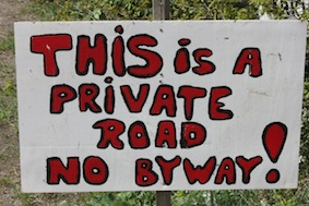 From the look of further down the lane we don't think we'd want to anyway thank you!